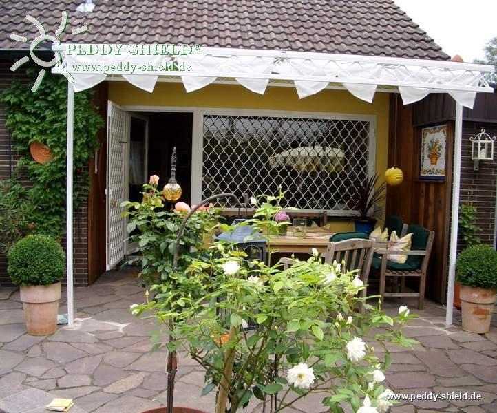 sonnensegel wintergarten 96 x 330 cm uni wei mit waschbaren faltsonnensegeln und der. Black Bedroom Furniture Sets. Home Design Ideas