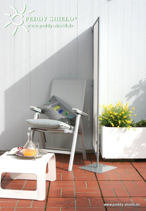 mobiler sichtschutz paravent f r balkon mit 1er rahmen erweiterbar und faltbar schwer entflammbar. Black Bedroom Furniture Sets. Home Design Ideas