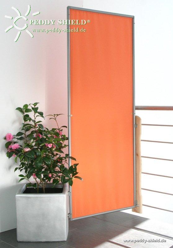 sichtschutz paravent in chrom mit 3er rahmen faltbar mit. Black Bedroom Furniture Sets. Home Design Ideas