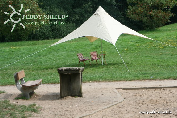 camping freizeit sonnensegel pyramide sonnensegelviereck 4x4 m sandfarben ein toller. Black Bedroom Furniture Sets. Home Design Ideas