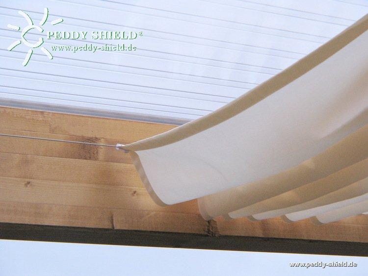 Sonnensegel Glasdach 88 X 380 Cm Uni Hell Elfenbein Zur
