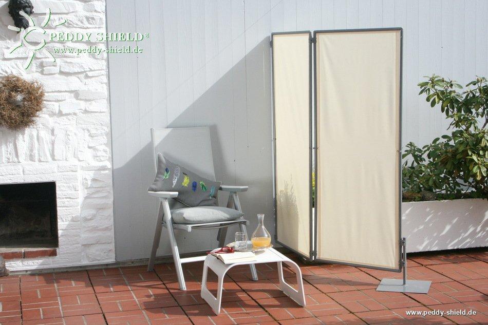 mobiler sichtschutz paravent f r balkon mit 1er rahmen erweiterbar und faltbar. Black Bedroom Furniture Sets. Home Design Ideas