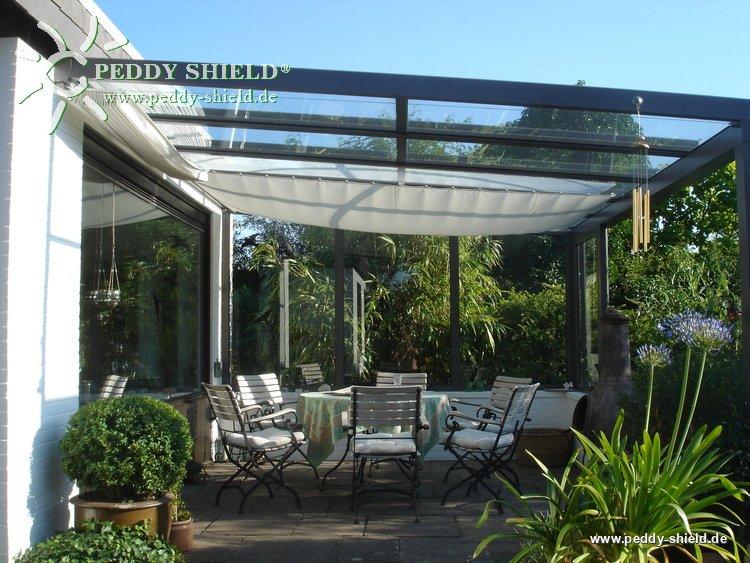 Sonnensegel Glasdach 88 X 380 Cm Uni Hell Elfenbein Mit 40x