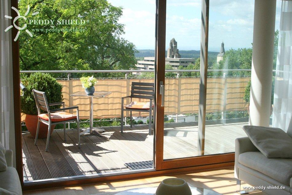 Balkonbespannung 75 X 500 Cm Farbe Sisal