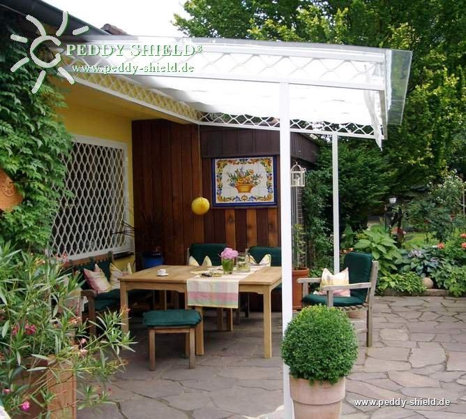 Sonnensegel wintergarten 96 x 380 cm uni wei f r die - Beschattung wintergarten seilspann ...