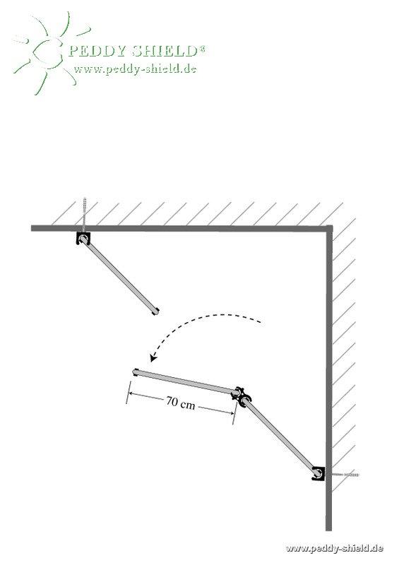 Umkleide 1 Kabine Aus Sichtschutz Paravent Raumecke Dreieck In