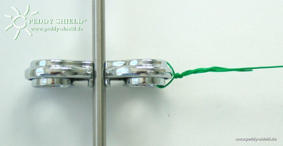 50 m bindedraht f r das peddy shield rankstabsystem aus edelstahl mit den einzigartigen chrom clip. Black Bedroom Furniture Sets. Home Design Ideas
