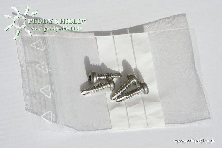 fotogalerie bohrschrauben 4 x12 aus edelstahl f r. Black Bedroom Furniture Sets. Home Design Ideas