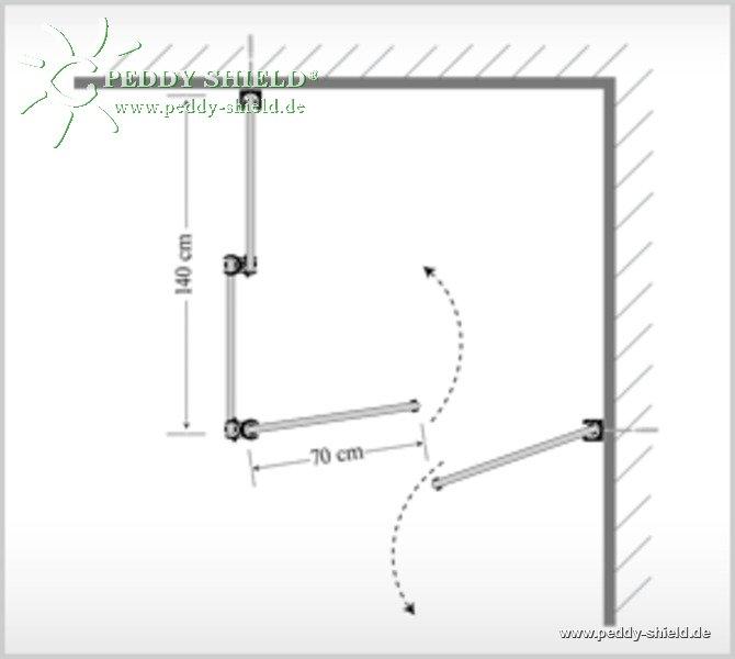 umkleide 2 kabine aus sichtschutz paravent raumecke quadrat in door bespannung paravent. Black Bedroom Furniture Sets. Home Design Ideas