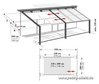 seilspanntechnik bausatz pergola ohne montagewinkel f r faltsonnensegel zwischen zwei fl chen. Black Bedroom Furniture Sets. Home Design Ideas