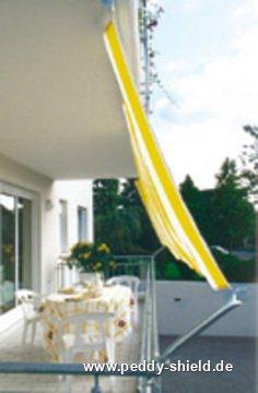 Bausatz Balkon Ii Fur Balkone Mit Handlauf Und Decke Sonnensegel In