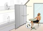 terrasse mobiler windschutz sichtschutz. Black Bedroom Furniture Sets. Home Design Ideas