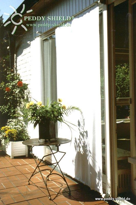 fotogalerie sonnensegel 270 x 140 cm farbe uni hell elfenbein ein sch nes verschiebbares. Black Bedroom Furniture Sets. Home Design Ideas