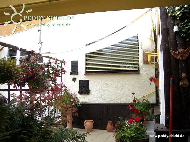 fotogalerie sonnensegel hellgrau 270x140 cm sonnenschutz balkon terrasse oder glasdach. Black Bedroom Furniture Sets. Home Design Ideas