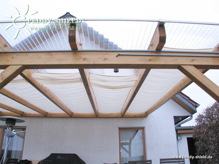 fotogalerie sonnensegel innenbeschattung wintergarten 96 x 380 cm uni hell elfenbein mit. Black Bedroom Furniture Sets. Home Design Ideas