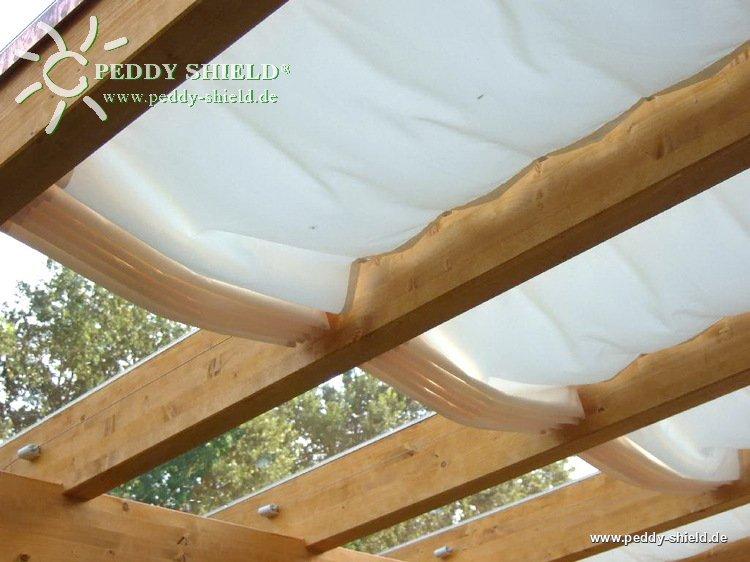 fotogalerie waschbares sonnensegel berdachung 68 x 330 cm uni wei als innenbeschattung. Black Bedroom Furniture Sets. Home Design Ideas