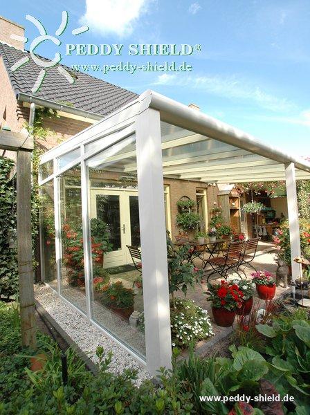 fotogalerie sonnensegel berdachung glas 88 x 330 cm uni hell elfenbein aus leichtem. Black Bedroom Furniture Sets. Home Design Ideas