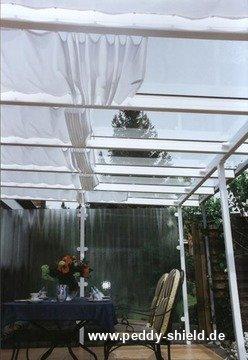 fotogalerie sonnensegel stoff polyester ballenbreite 146 cm uni hellgrau. Black Bedroom Furniture Sets. Home Design Ideas