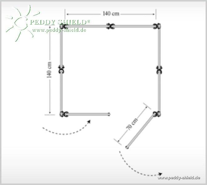 umkleide 5 quadrat mit t r outdoor mit schraub. Black Bedroom Furniture Sets. Home Design Ideas