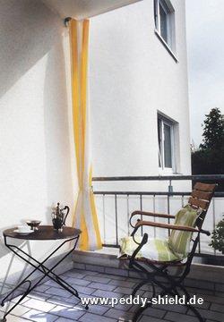 senkrecht sonnensegel 230x140 cm blockstreifen gelb wei. Black Bedroom Furniture Sets. Home Design Ideas