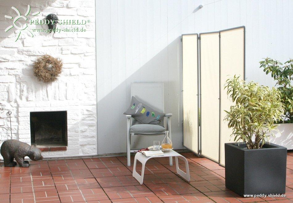 sichtschutz paravent sichtschutz mobil f r den garten aufstellung windstabil mit schraub erdanker. Black Bedroom Furniture Sets. Home Design Ideas