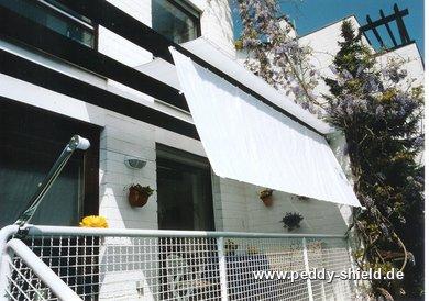 bausatz balkon ii f r balkone mit handlauf und decke sonnensegel in seilspanntechnik f r balkon. Black Bedroom Furniture Sets. Home Design Ideas