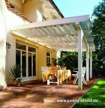 Terrassenüberdachung Mit Sonnenschutz : Sonnenschutz Terrassenüberdachung Innenbeschattung  Peddy Shield