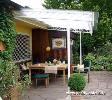 sonnenschutz terrassen berdachung innenbeschattung peddy shield. Black Bedroom Furniture Sets. Home Design Ideas