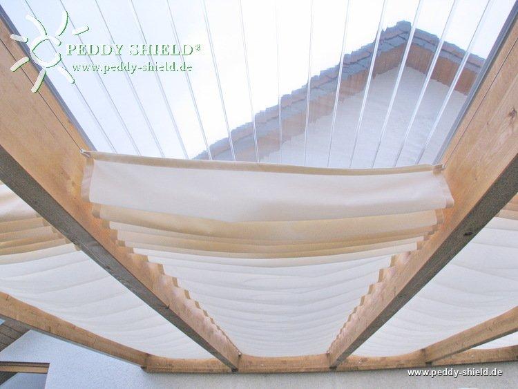 baldachin faltsonnensegel f r glasd cher. Black Bedroom Furniture Sets. Home Design Ideas