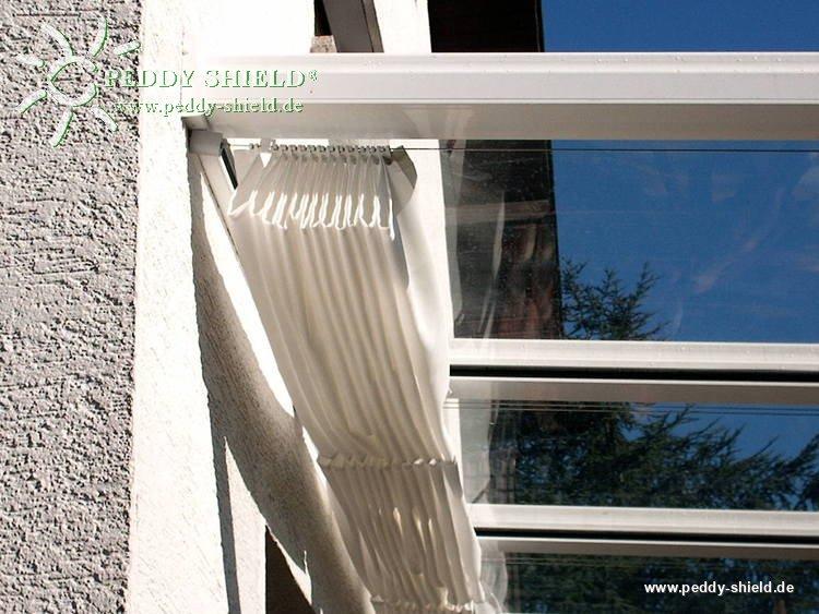 fotogalerie sonnensegel polyesterstoff ballenbreite 146 cm uni wei zum selbern hen. Black Bedroom Furniture Sets. Home Design Ideas